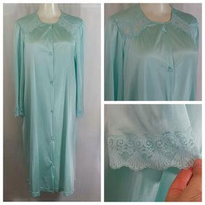 Vintage 70s Vanity Fair Robe Nightgown - Size M